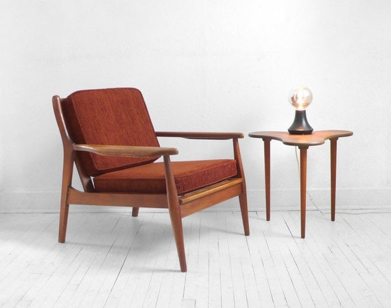 Items Similar To Vintage Lounge Chair Mid Century