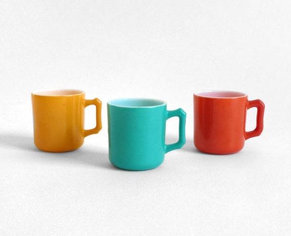 Items Similar To Vintage Jewel Tone Coffee Cups Tea Mug