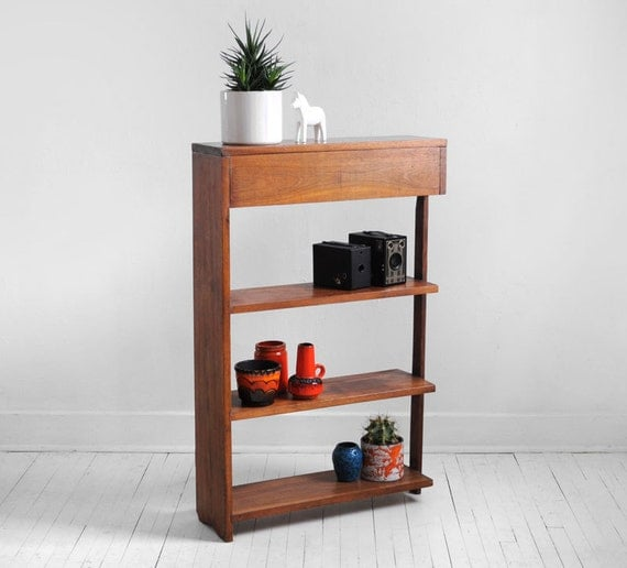 Modern Wood Shelves : ... Mid Century Teak Wood Shelf - Wall, Modern, Bookshelf, Retro on Etsy