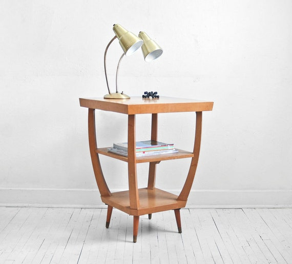 Items Similar To Vintage Wood Side Table