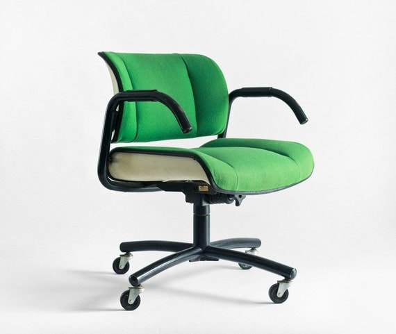 items similar to vintage office swivel chair mid century modern retro desk on etsy. Black Bedroom Furniture Sets. Home Design Ideas