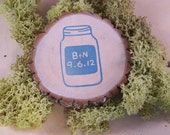 Mason Jar  Save The Date  Personalized Tree Magnets