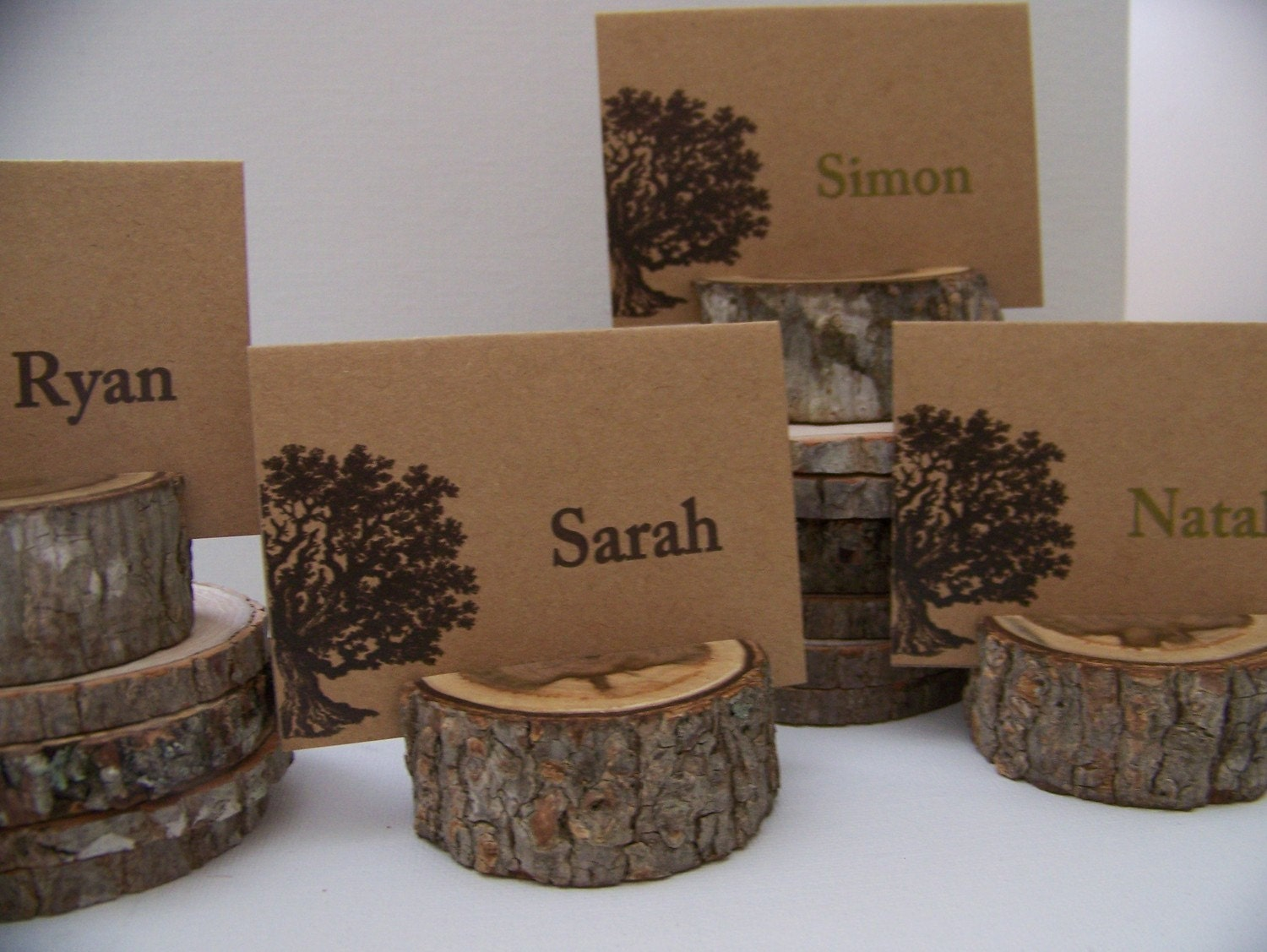 woodland set of tree place card holders set of 23 plus small
