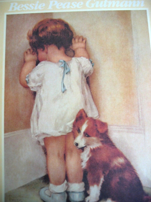 Unframed Print Vintage Bessie Pease Gutmann From 1989