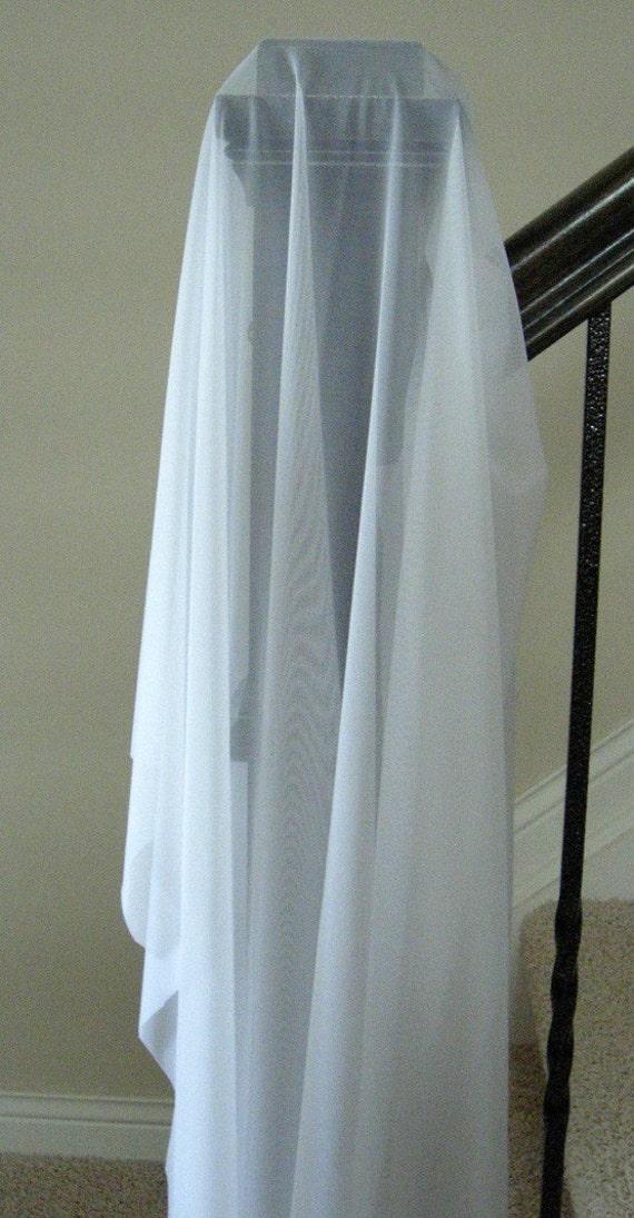Extra light weight sheer stretch powermesh fabric, pale