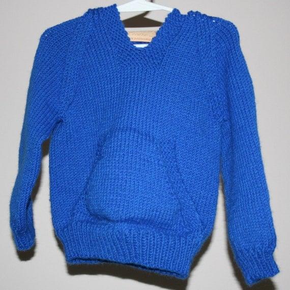 Hand knit Wallaby sweater custom order by leedrasheirloomgoods
