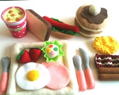 Felt food   Happy  Breakfast  set