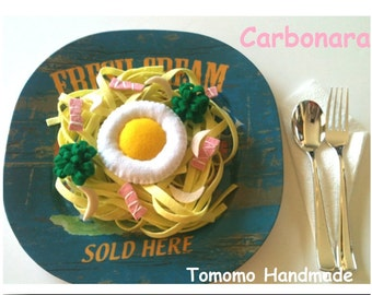 Etsy Pretend food- Play food -Felt food  Carbonara