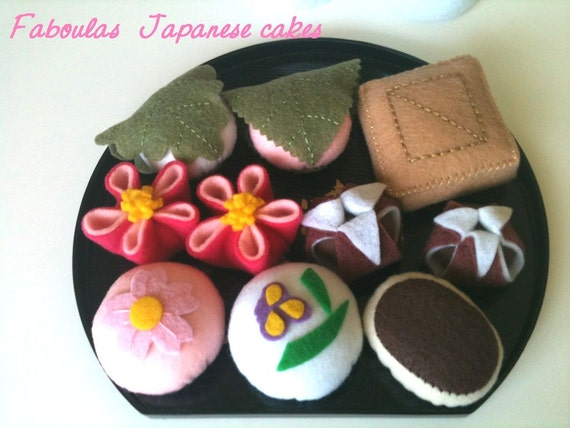 Felt food-   Faboulas Japanese Teatime set