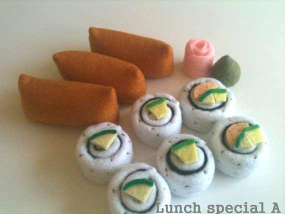 Felt-food  Japanese Sushi Roll