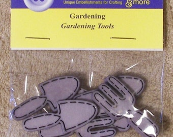 ON SALE Gardening Tools Buttons