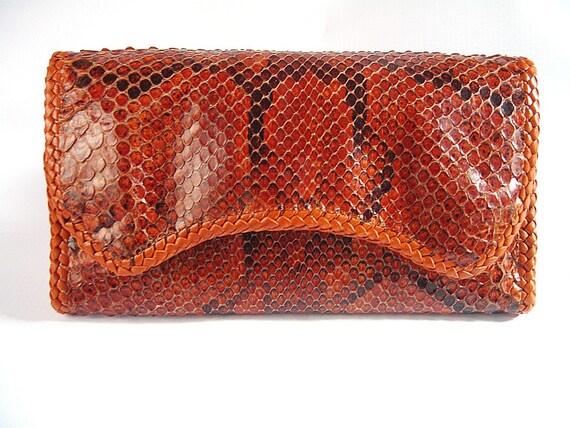 Python Skin Wallet - Large Biker Style