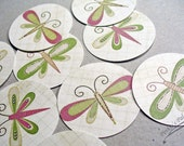 Stickers or Envelope Seals with Butterflies