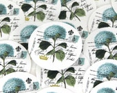 Stickers Envelope Seals Reminder Stickers Packaging Stickers Calendar Stickers Blue Hydrangea SES77