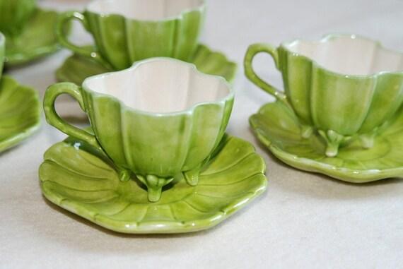 VINTAGE CHARTREUSE DEMI-TASSE CUPS