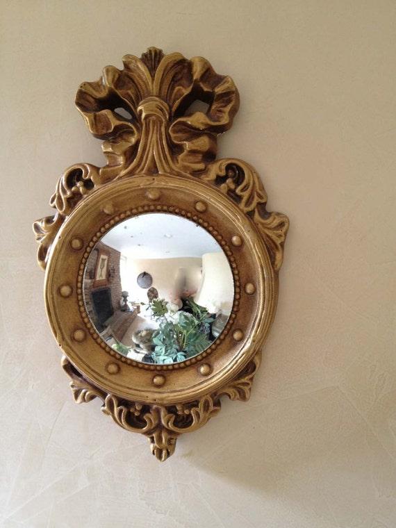Plaster Gold Convex Mirror