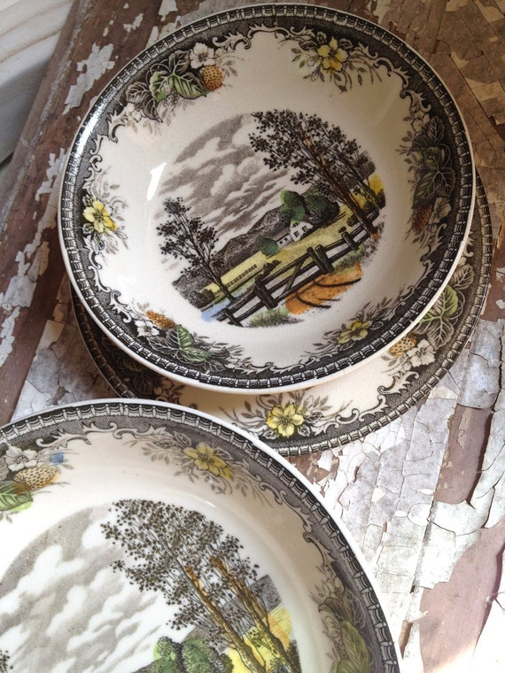 SALE Vintage China Transferware Set