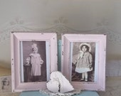 Vintage INspired.....Fairytale Pink Upcycled Wood Frames..