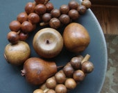 Vintage super sweet wooden fruit set