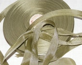 Vintage 1930's-40's French Woven Ribbon -Milliners Stock- 5/8 inch Old Moss Green
