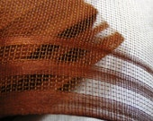 Antique 1920's Pure Silk French Veiling Hat Netting Lovely Chestnut Brown