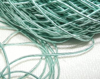 Vintage 1940's Silk Necklace Cord Cording 1/32 Inch Shimmery Aqua