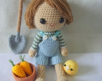 PDF Crochet Pattern - Country boy on the farm
