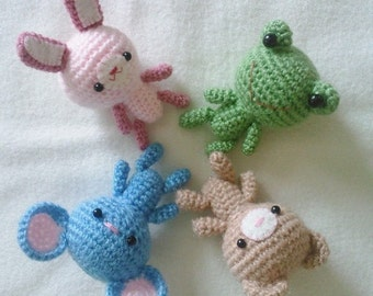 PDF Crochet Pattern - Tiny animals