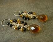 Sterling Silver Topaz Quartz Waterfall Earrings