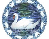 Swan with Knotted Celtic style Border, 1 card