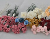 Lot of various Ribbon Flowers - 1/4 inch to 1 inch in size - RESERVED for MADEBYCLIFFORD