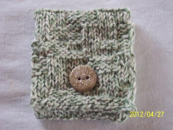 Green Twist Tea Pouch, Tea Wallet
