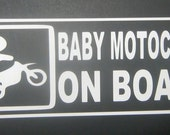 "4""x9"" Baby Motocross on Board Vinyl Decal"