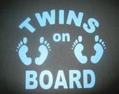 Twins on Board Vinyl Decal