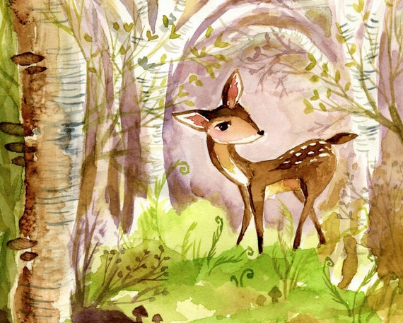 Forest Fawn 8x10 print