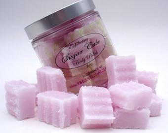 Exfoliating Solid Sugar Cube Body Polish 8 oz Jar  Lavender (Vegan Friendly)