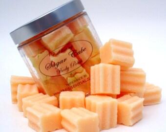 Sugar Scrub Exfoliating Solid Sugar Cube Body Polish 8 oz Jar Pink Grapefruit  (Vegan Friendly)