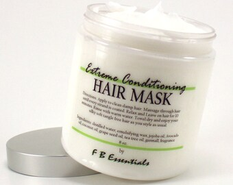 Extreme Conditioning Hair Mask with Jojoba, Avocado and Grapeseed Oil 8 oz jar (choose your scent)