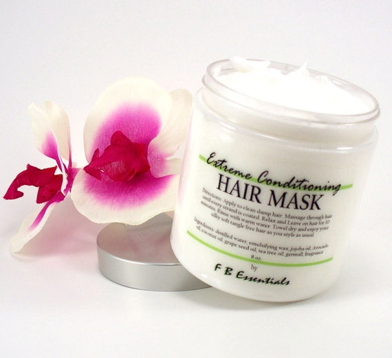 Extreme Conditioning Hair Mask with Jojoba, Avocado, Argan and Grapeseed Oil 8 oz jar (choose your scent)