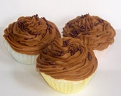 Chocolate Fudge Brownie Cupcake Bath Bomb Minis (Set of 3)