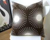 PILLOW COVERS Thomas Paul Design  dark brown and white  set of two 20 inch pillow covers