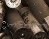 Shot Gun Shells in Sepia Photograph 11x14