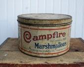 Antique Campfire Marshmallow Tin