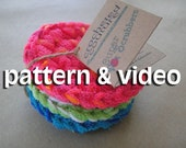 super pot scrubber PATTERN - Great Handmade Gift - INSTANT DOWNLOAD
