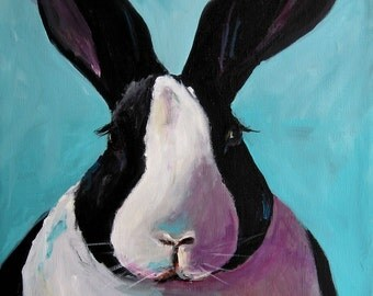 Bunny Painting - Spring Bunny-  Print on Paper by Cari Humphry
