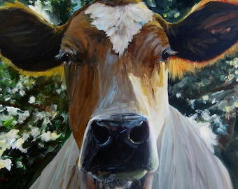 Cow Painting - Eileen - Print on Paper or Canvas