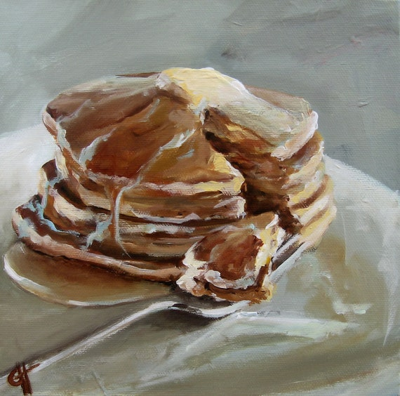 Pancakes  - Canvas or Paper print of an Original Painting