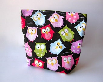 Eco Friendly Snack/Sandwich Bag With Gusset Bottom - Cute Owls