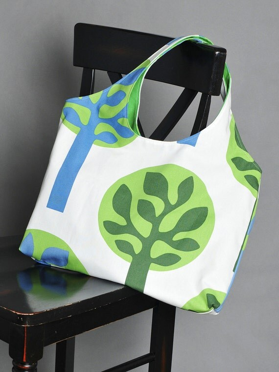 SALE Large Tote Bag - Forest of Trees