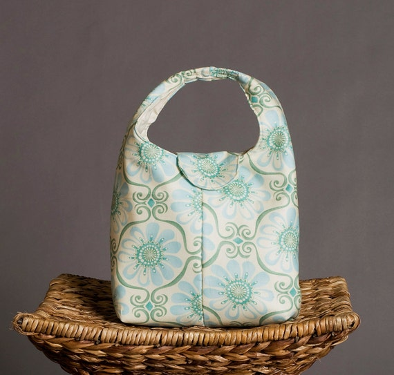 Eco Friendly Insulated Lunch Bag Light Blue And Sage